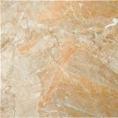 Marble Breccia Oniciata Polished 12.01 in. x 12.01 in. Marble Floor and Wall Tile (1 sq. ft.)