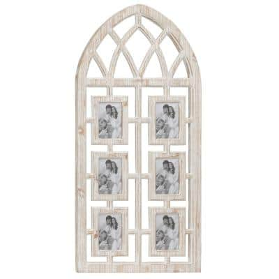 Light Brown Wood Vintage Wall Photo Frame 41 in. x 19 in.