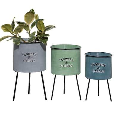 3 Plant Pots Planters The Home Depot