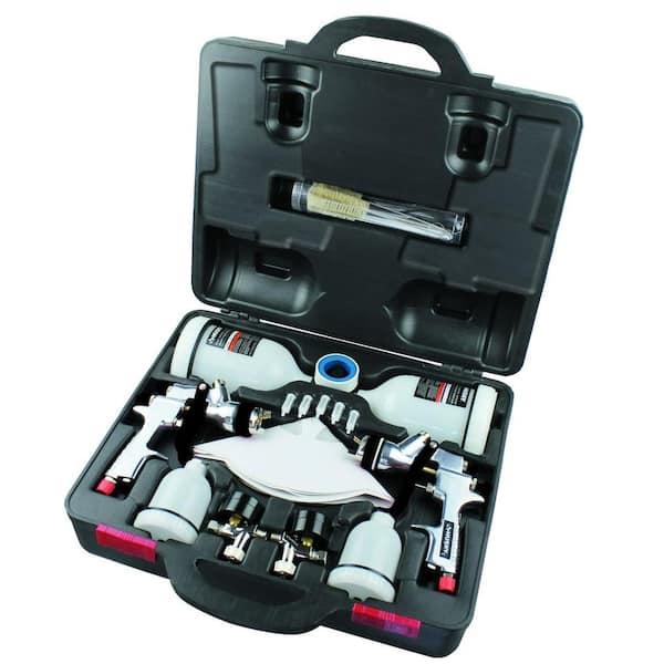 HVLP Air Spray Gun Gravity Feed Air Paint Spray Gun Set with 3 Nozzles