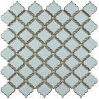 Hudson Tangier Silk White 12 in. x 12 in. Porcelain Mosaic Tile (10.96 sq. ft. / Case)