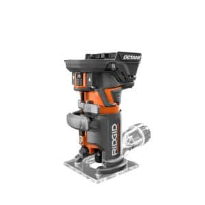 18-Volt OCTANE Cordless Brushless Compact Fixed Base Router with 1/4 in. Bit, Round and Square Bases, and Collet Wrench