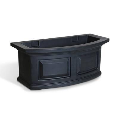 24 in. x 11.5 in. Black Plastic Window Box