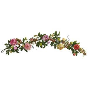 60 in. Mixed Peony and Berry Garland