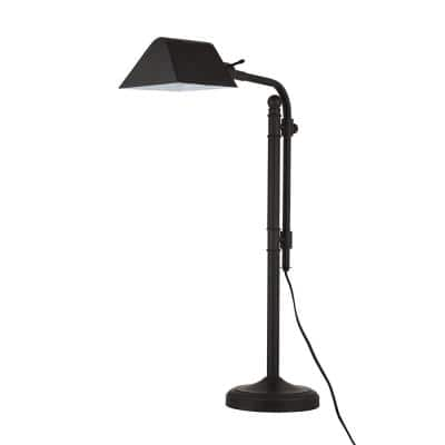 29.75 in. Bronze Traditional Desk Lamp and LED Bulb