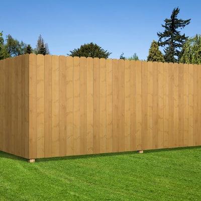 1 in. x 6 in. x 6 ft. Homestead Harvest Cedar Prestained Brazilian Pine Dog Ear Fence Picket (6-Pack)