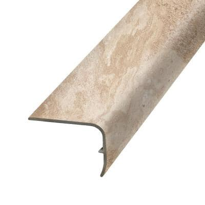 Almond 1.32 in. Thick x 1.88 in. Wide x 78.7 in. Length Vinyl Stair Nose Molding