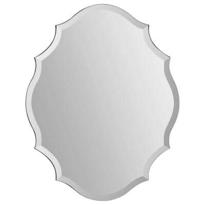Luna 28 in. x 22 in. Traditional Framed Mirror