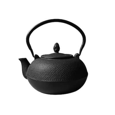 3 l Hakone Matte Black Cast Iron Teapot/Wood Stove Humidifier