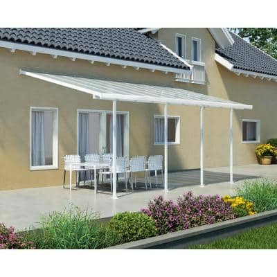 Feria 10 ft. x 20 ft. White Patio Cover Awning