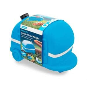 Retro RV 4-in-1 Sewer Connection Weight, Blue