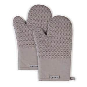 Asteroid Silicone Grip Gray Oven Mitt Set (2-Pack)
