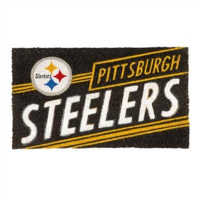 16 in. x 28 in. Pittsburgh Steelers NFL Coir Punch Mat