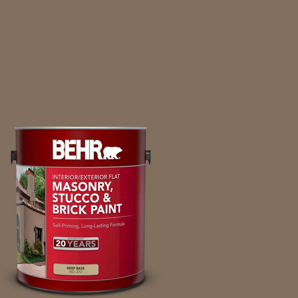 Behr 1 Gal Ppu5 04 Mocha Latte Flat Interior Exterior Masonry Stucco And Brick Paint 27201 The Home Depot