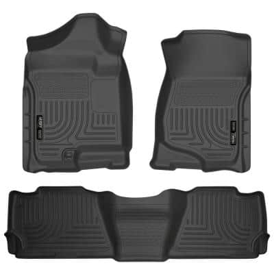 Front & 2nd Seat Floor Liners Fits 07-14 Suburban 1500/Yukon XL1500