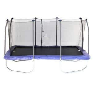Skywalker Trampolines 15 ft. Rectangle Trampoline with Enclosure in Blue