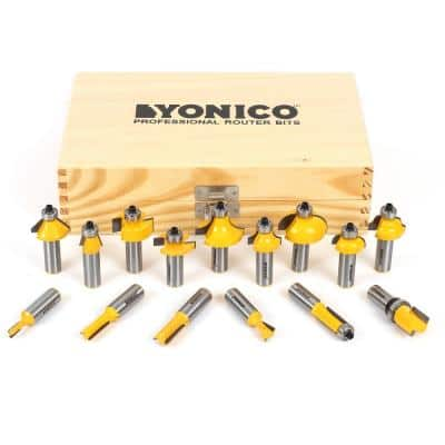Multi Profile 1/2 in. Shank Carbide Tipped Router Bit Set (15-Piece)