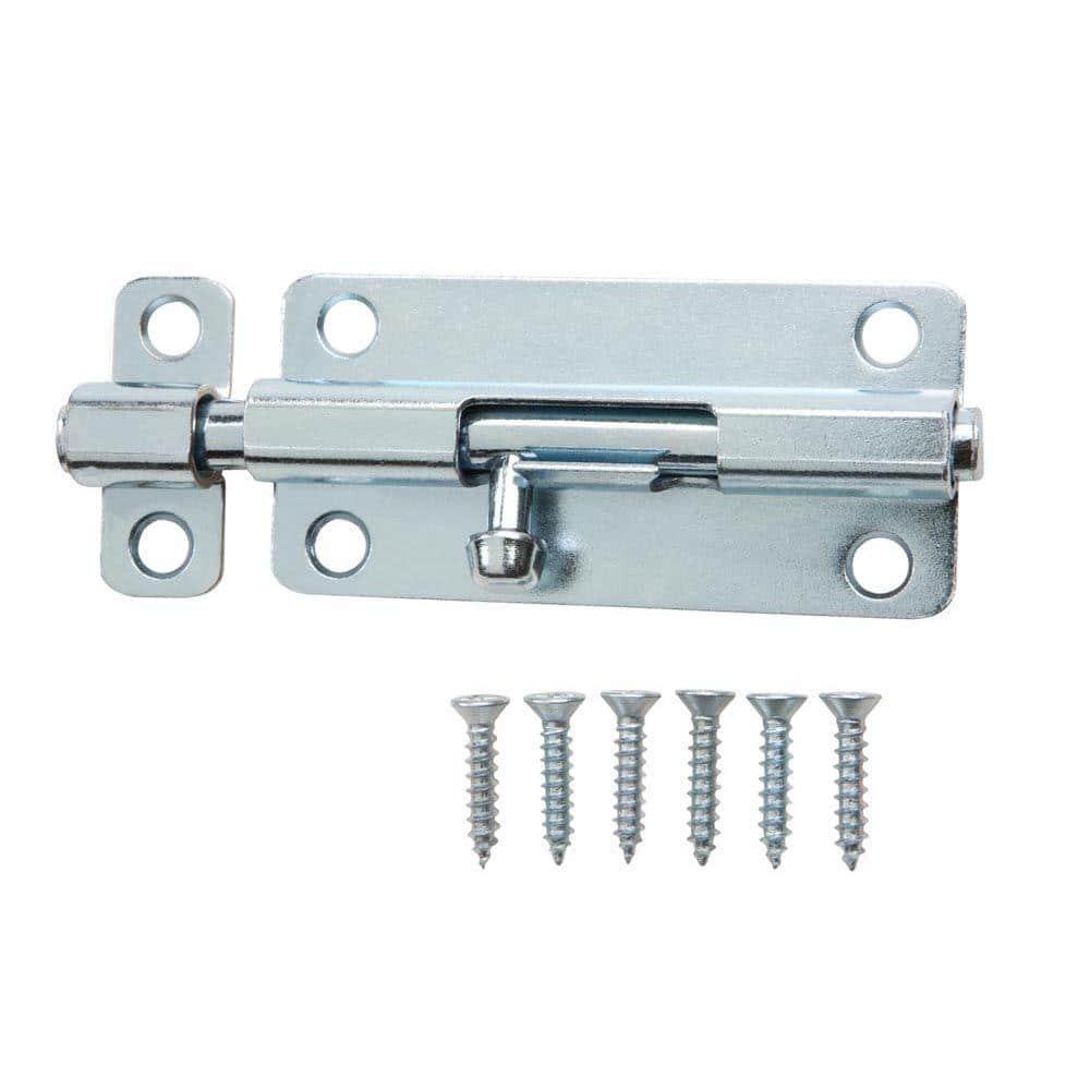Sliding Lock Barrel Bolt 4-inch Stainless Steel Door Latch w Screws