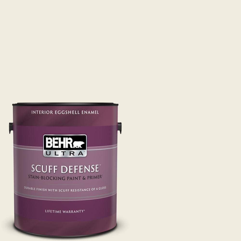 Behr Ultra 1 Gal Yl W05 Swiss Coffee Extra Durable Eggshell Enamel Interior Paint Primer 275001 The Home Depot