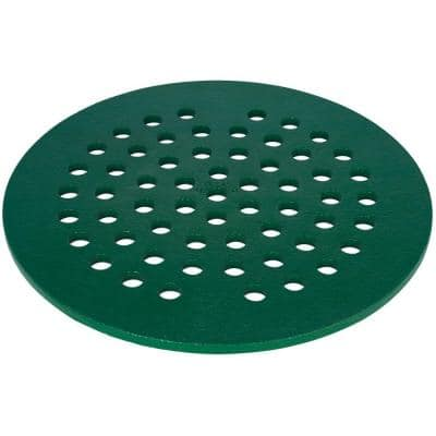 8 in. Replacement Cast Iron Floor Drain Cover in Green