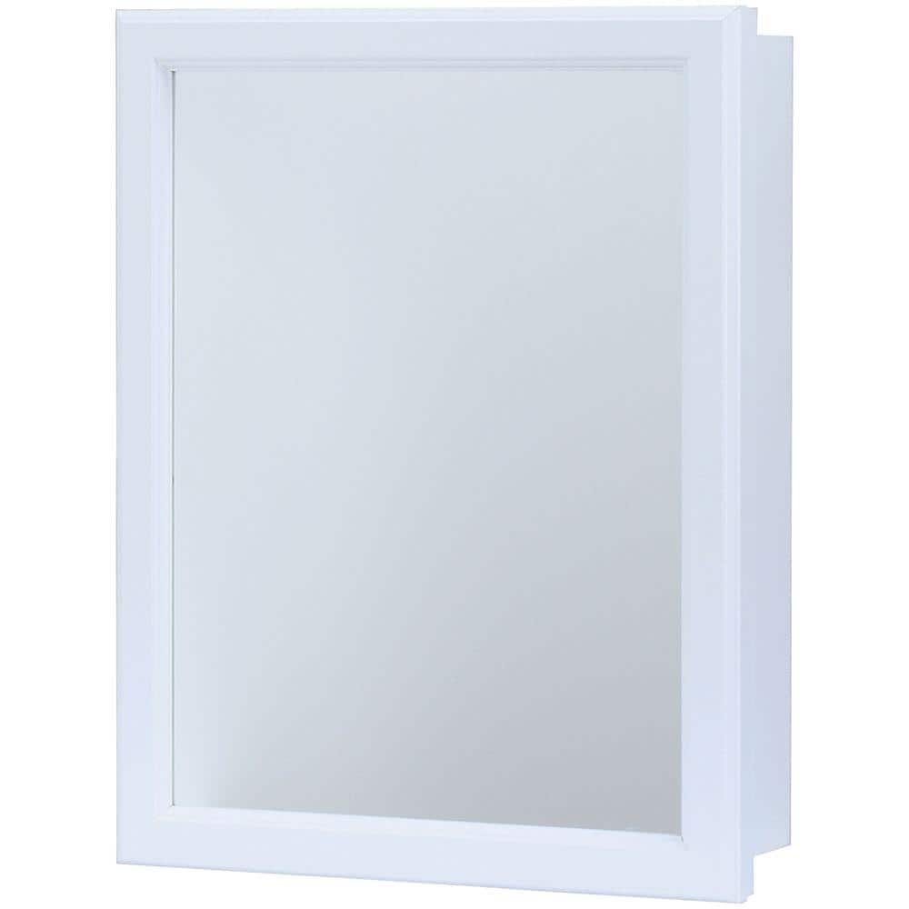 Glacier Bay 15 1 4 In W X 19 1 4 In H X 5 In D Framed Recessed Or Surface Mount Bathroom Medicine Cabinet In White S1620 12 R B The Home Depot