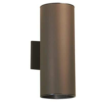 Independence 2-Light Architectural Bronze Outdoor Wall Cylinder Light