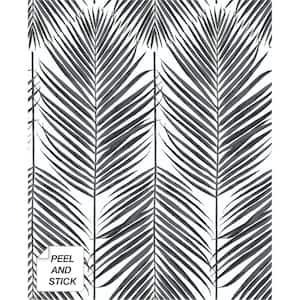 Paradise Palm Black Sands Botanical Vinyl Peel & Stick Wallpaper Roll (Covers 30.75 Sq. Ft.)