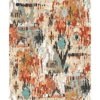 Orange Aztec Peel and Stick Wallpaper (Covers 28.18 sq. ft.)