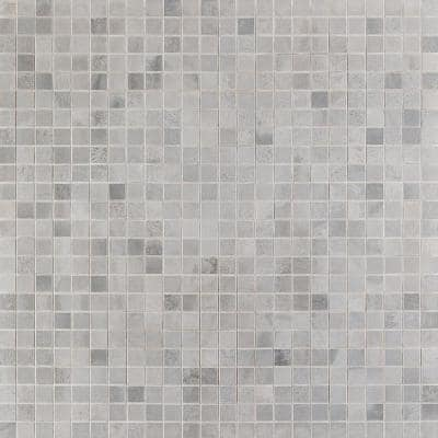 Hempstead Silver 11.81 in. x 11.81 in. Square Matte Porcelain Mosaic Tile (0.97 sq. ft. / Sheet)