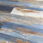 COLORS Floor and Wall DIY Old Blue Sea Aged 6 in. x 36 in. Multi-Tonal Luxury Vinyl Plank (30 sq. ft. / case)