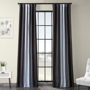 Parallel Grey Novelty Blackout Curtain - 50 in. W x 84 in. L