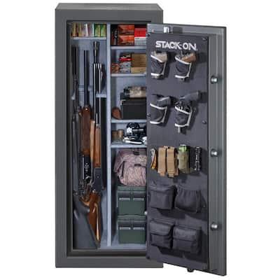 24-Gun Fire/Waterproof Combination Lock Safe, Gray Pebble