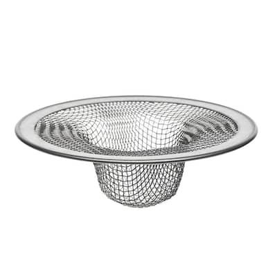 4-1/2 in. Mesh Kitchen Sink Strainer in Stainless-Steel