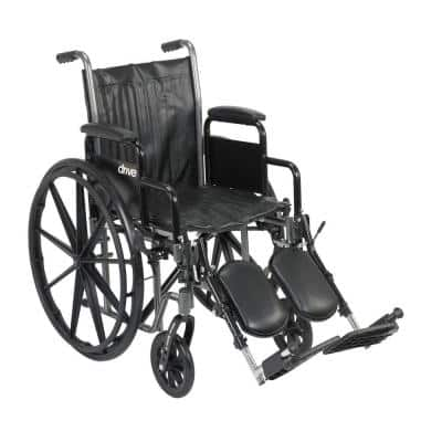 Silver Sport 2 Wheelchair with Desk Arms, Elevating Leg Rests and 18 in. Seat