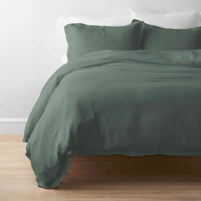 Solid Washed Linen Pillowcase (Set of 2)