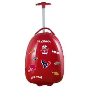NFL Houston Texans 18 in. Red Kids Pod Luggage Suitcase