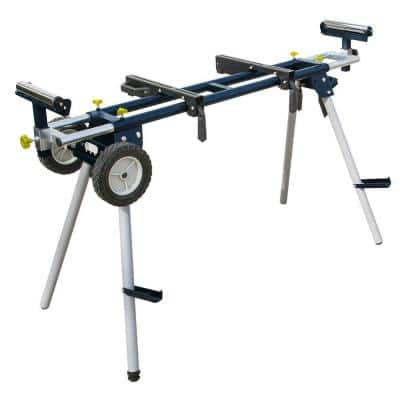 Deluxe Miter Saw Stand with Wheels and 110-Volt Power Outlet