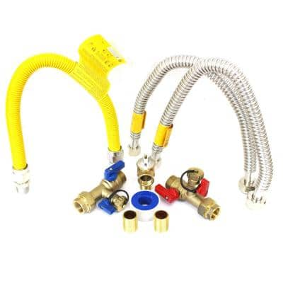 3/4 in. Tankless Water Heater Valves Installation Complete Kit