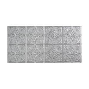 Traditional #2 2 ft. x 4 ft. Glue Up Vinyl Ceiling Tile in Argent Silver (40 sq. ft.)