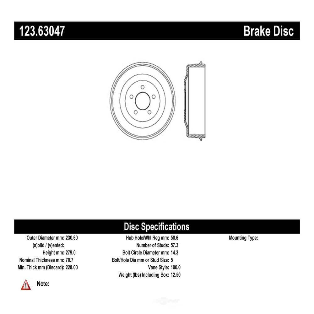 Centric Parts 123.63047 Brake Drum Brake System Automotive ...