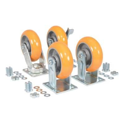 Elastic Polyurethane Caster Kit 6000# Cap