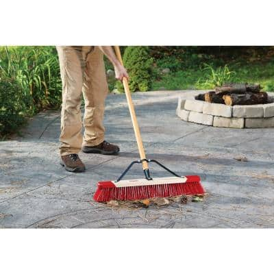 24 in. Easy to Assemble Outdoor Push Broom