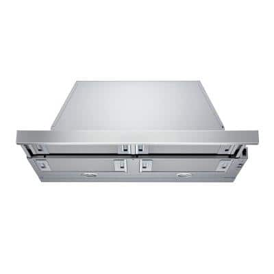 500 Series 30 in. Pull-Out Range Hood with Lights in Stainless Steel