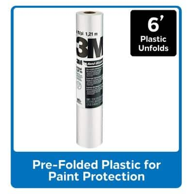 Hand-Masker 6 ft. x 90 ft. Contractor's Plastic (Case of 12)