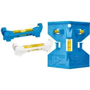 5-5/8 in. Line Levels Set with Plastic Post and Pipe Multi Level (3-Pack)