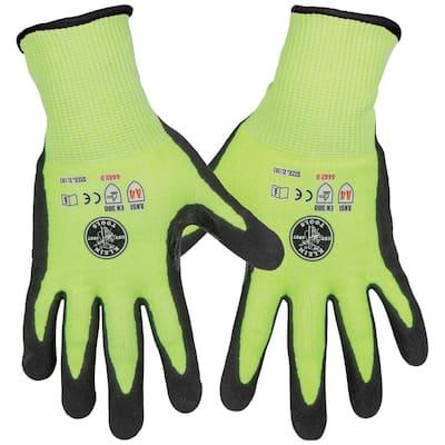 Work Gloves, Cut Level 4, Touchscreen, X-Large, 2-Pair