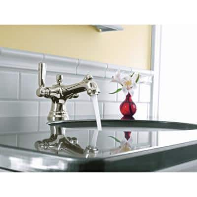 Bancroft Single Hole 2-Handle Low-Arc Bathroom Faucet in Vibrant Polished Nickel
