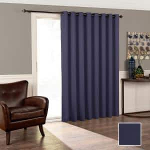 MIDNIGHT Woven Thermal Blackout Curtain - 100 in. W x 84 in. L