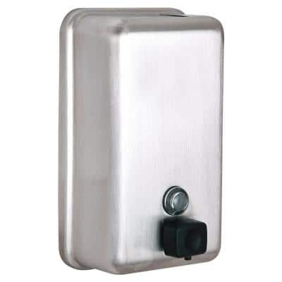 1200 ml Vertical Manual Surface-Mounted Stainless Steel Liquid Soap Dispenser