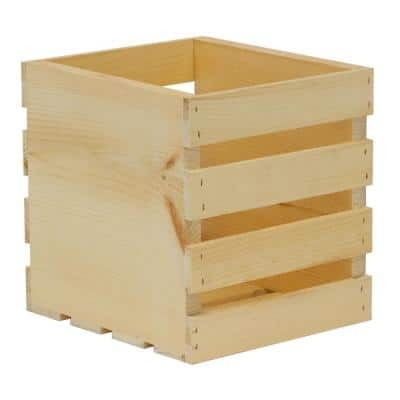 Crates and Pallet 9 in. x 9.5 in. x 9.5 in. Square Wood Crate